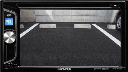 Automobilio grotuvo galinio vaizdo kameros ekranas - Alpine Mobile Media grotuvas IVE-W560BT