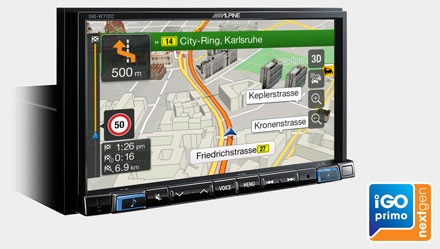Built-in iGo Primo NextGen Navigation - INE-W710DC