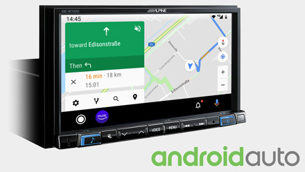 Online Navigation with Android Auto - INE-W720DC