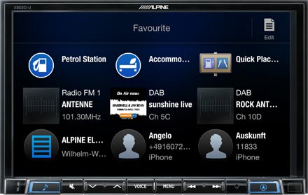 Favourites - Navigation System X802D-U