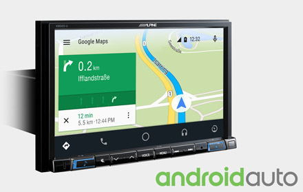 Online Navigation with Android Auto - X802D-U