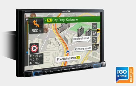Built-in iGo Primo NextGen Navigation - X802D-UA