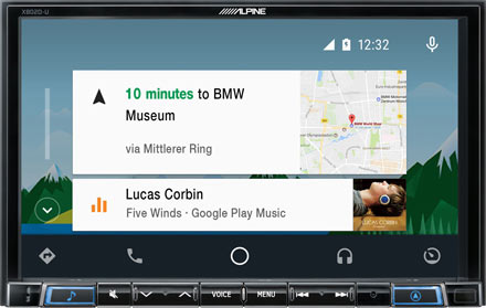 Online Navigation with Android Auto - X802D-UA