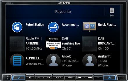 Favourites - Navigation System X802DC-U