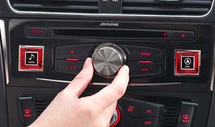 Audi A4 - X701D-A4: Alpine Control Panel