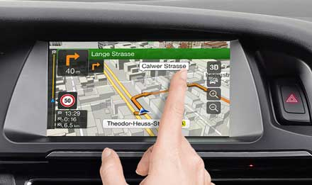 Audi A4 - X701D-A4: High Resolution Touch Screen