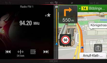 Audi A4 Navigation System - X701D-A4: One Look Display