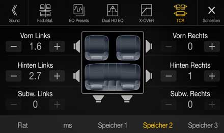 Audi A4 - X701D-A4: Premium Sound Quality - Sound Setting